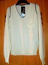 VNECK top aktueller Pullover Gr. 52 crème Merino-Wolle NEU/ETIKETT