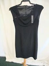 "Ladies Little Black Dress Tahari UK 8, shoulder & back zip, length 36"", 0655"