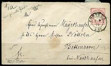 GERMANY  CAT# 10b  EMBOSSED ENVELOPE 10 PFG  KONIGSBERG CANCEL 4.19.89 TO BERLIN