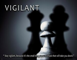 Chess Motivational Poster Art Print School Classroom Office Wall Decor Vigilant