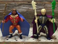 He Man MOTU SCAREGLOW & King Randor Custom Capes Only Scare Glow