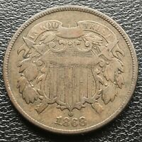 1868 Two Cent Piece 2c Better Grade 2 Cents  #18529