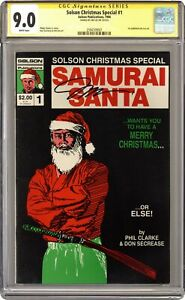 Solson Christmas Special #1 CGC 9.0 SS 1986 2594709001