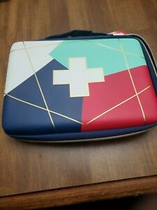 Band-Aid First Aid Bag Zip Closure Home Office Portable Pouch