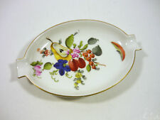 "HEREND, BOUQUET DE FRUIT (BFR) ASHTRAY 5"", HANDPAINTED PORCELAIN !"