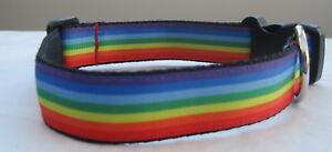 Pride rainbow dog collar or lead handmade grooming puppy guy lesbian funcky Nhs