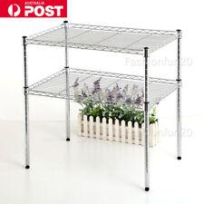 2 Layers  Steel Microwave Shelf Stand Rack Kitchen Storage Organizer Silver Wire