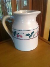 HARTSTONE POTTERY Strawberry Strawberries PITCHER JUG  USA