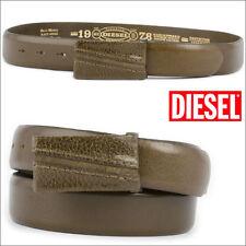 """Nouveau DIESEL BLACCI Homme Marron/kaki ceinture en cuir ~ SZ 95 00S5GG 33-Taille 38"""""""