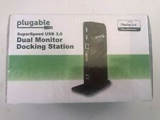 Plugable USB 3.0 Universal Laptop Docking Station for Windows NEW