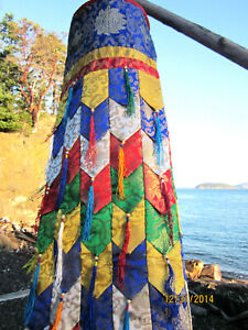 TSEKHOR CHUKOR SHAMBO ROUND BANNER PRAYER FLAG 3 FT TIBETAN BUDDHIST SHRINE ROOM