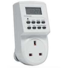 Electronic 12/24 Hour 7 Day Digital mains Socket Plug-in Timer With LCD Display