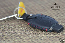 Mercedes Benz Genuine Leather KeyCase Black Key Fob Cover Case Keyring Etui  NEW