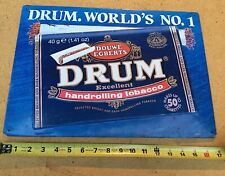 Douwe Egberts DRUM - World's #1 Handrolling Tobacco Metal Sign 12 x 17 inches