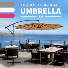 3M Cantilever Outdoor Umbrella Garden Yard Deck Patio Market Stall Sun Shade