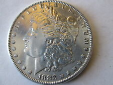 1883-P MORGAN DOLLAR, FULL DETAILS, AU++, CLEANED, NECK DIE CRACK VAM
