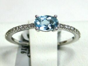 Aquamarine Ring 14K White Gold Untreated Heirloom Brazil $2,153