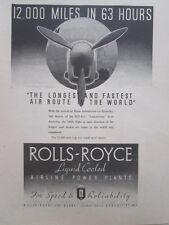 5/1946 PUB ROLLS-ROYCE BOAC LANCASTRIAN HURN AUSTRALIA AIR ROUTE EMPIRE AD