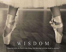 Ballet Dance Motivational Poster Art Print Shoes Flats Tutu Leotard Skirt MVP380