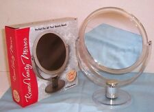 Vanity / Make Up / Beauty / Travel Mirror w/ Stand 2x mag & Normal Side Round