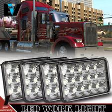 "4PCS 4x6"" Led Light Hi/Lo Beam Headlight For Peterbilt Kenworth Jeep Chevrolet"