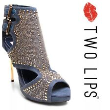 Very Sexy Denim Gold Studded  Heel's Ladies ,Excellent Condition !! $189 + Tax !