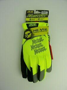 Mechanix Wear Safety Fastfit Gloves Yellow LARGE Mechanics Garage Shop Work -NEW