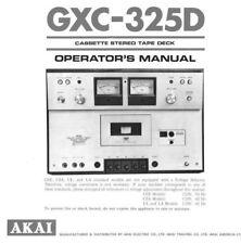 Akai GXC-325D Cassette Deck Owners Instruction Manual