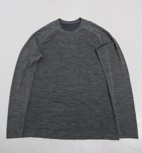 Lululemon Men's Metal Vent Tech Long Sleeve Heathered Grye Size M Stretch