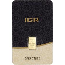 1 gram IGR Gold Bar - Istanbul Gold Refinery - 999.9 Fine in Sealed Assay