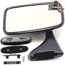 Classic Car MG MGB Triumph Ford Jaguar Mini Tex Style Black Door Mirror LH