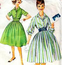 "Vintage 50s FULL SKIRT DRESS Sewing Pattern Bust 36"" Sz 12 RETRO Rockabilly PROM"