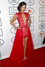 Paula Patton Posing Red Dress 8x10 Photo Print