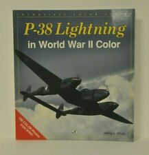 P-38 LIGHTNING IN WORLD WAR II COLOR: by Jeffery L. Ethell SIGNED (5) P-38 ACES