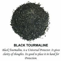Black Tourmaline Crystal Dust Powder Natural Raw Rough Reiki Healing Stones