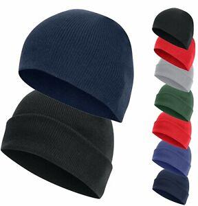 Kid Adult Men Ladies Knitted Beanie Hat Warm Winter Ski Skull Cap Black Navy Red