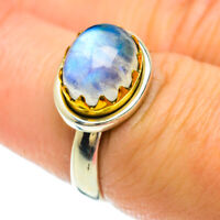 Rainbow Moonstone Copper 925 Sterling Silver Ring Size 7 Ana Co Jewelry R51673F