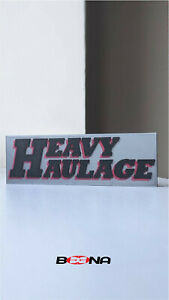 Decorative HEAVY HAULAGE self standing logo display (For Corgi)