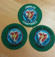 BSA Set of 3 Boy Scout Patches 75th Anniversary Diamond Jubilee 1910 - 1985