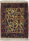 Tiny Small Vintage Tribal Oriental Rug 1'5X2 Kitchen Bedroom Bathroom Carpet
