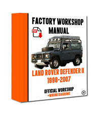 >> OFFICIAL WORKSHOP Manual Service Repair Land Rover Defender 1998 - 2007