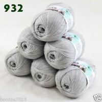 New Lot of 6 balls x 50g LACE Soft Acrylic Wool Cashmere hand knitting Yarn 932