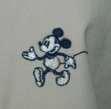 Mickey Mouse Trench Coat Mac Disney Donaldson Lightweight White Beige L 12 10