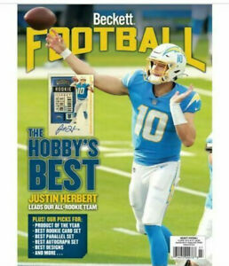 New July 2021 Beckett Football Card Price Guide Magazine With Justin Herbert