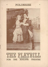 "Jan Kiepura ""POLONAISE"" Marta Eggerth / Frederic Chopin 1945 Broadway Playbill"