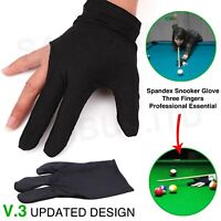 Spandex Snooker Billiard Cue Gloves Pool Left Hand Open Three Finger Glove UK