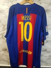 NIKE FC BARCELONA HOME SOCCER JERSEY  MESSI #10 2016 NWT Sz 2XL Red/blue