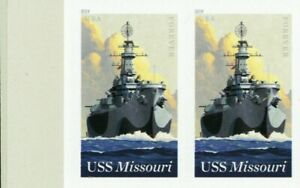 5392a, USS Missouri RARE Die Cut Omitted Pair Major Error With PSE - Stuart Katz