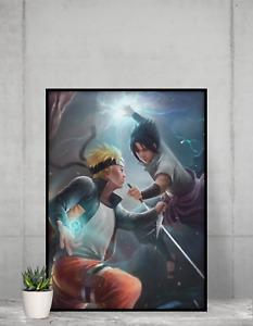 Naruto Poster sasuke Anime NEW design Manga Wall Art print design Size A4 A3 A2
