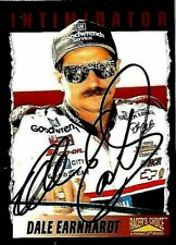 DALE EARNHARDT SR  -  Autographed [f47]  1996 Racer's Choice  Card #57
